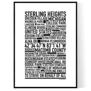 Sterling Heights Poster