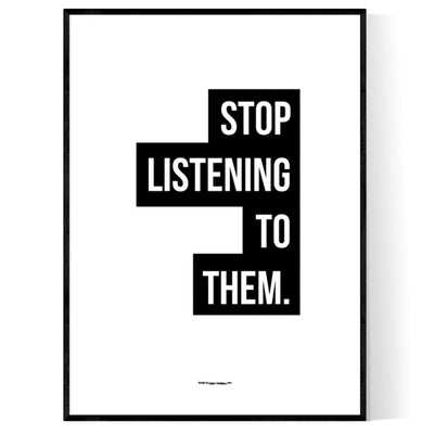 Stop Listening Poster