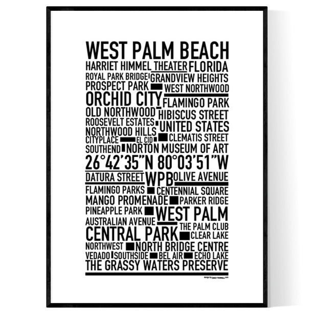 West Palm Beach Poster