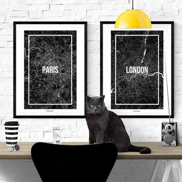 Paris Map Frame Poster