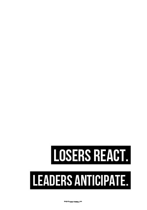 Leaders Anticipate Poster