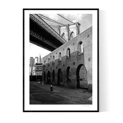 Behind Brooklyn Bridge Poster