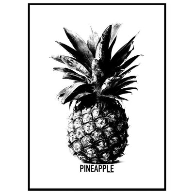Black Pineapple Poster