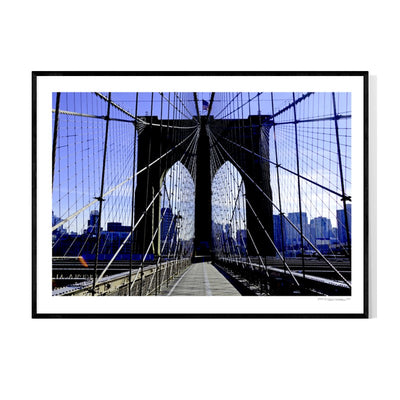 Brooklyn Bridge Morning Poster