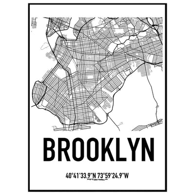 Brooklyn New York Karten Poster