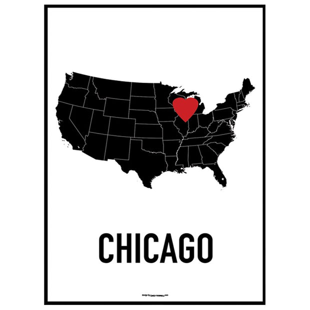 Chicago Heart Poster