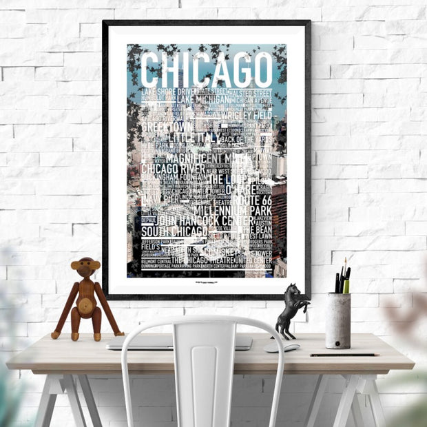 Chicago Photo Text Poster