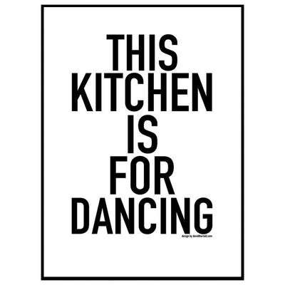 Dancing Kitchen Poster