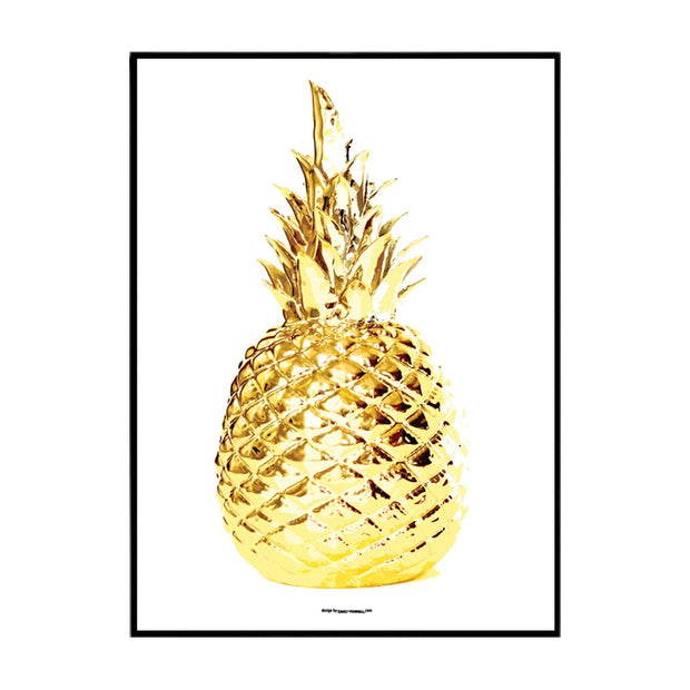 Gold Pineapple Poster