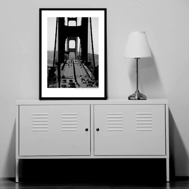 Golden Gate B/W Poster
