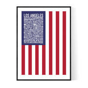 Los Angeles Flag Poster