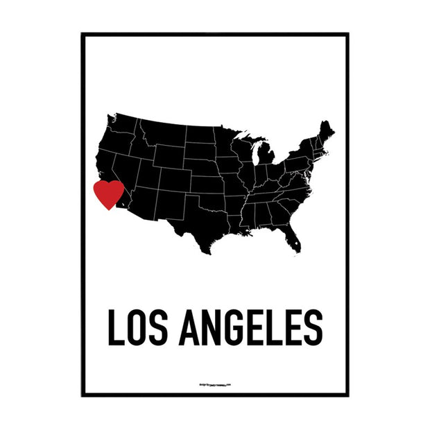 Los Angeles Heart Poster