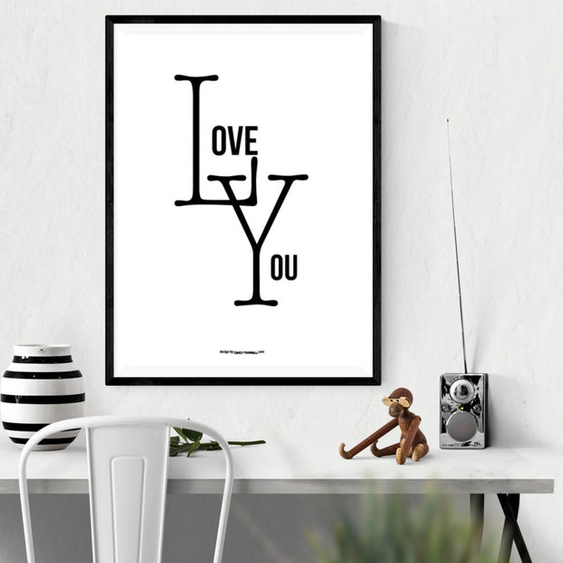 Love You Logo Poster