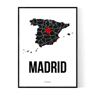 Madrid Heart Poster