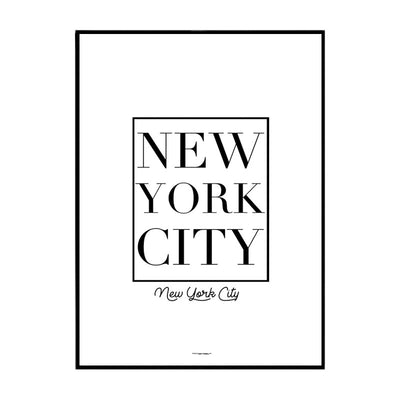 New York Cube Poster