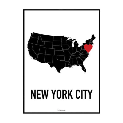 New York Heart Poster