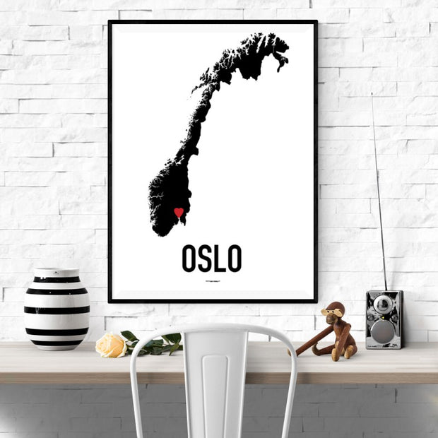 Oslo Heart Poster