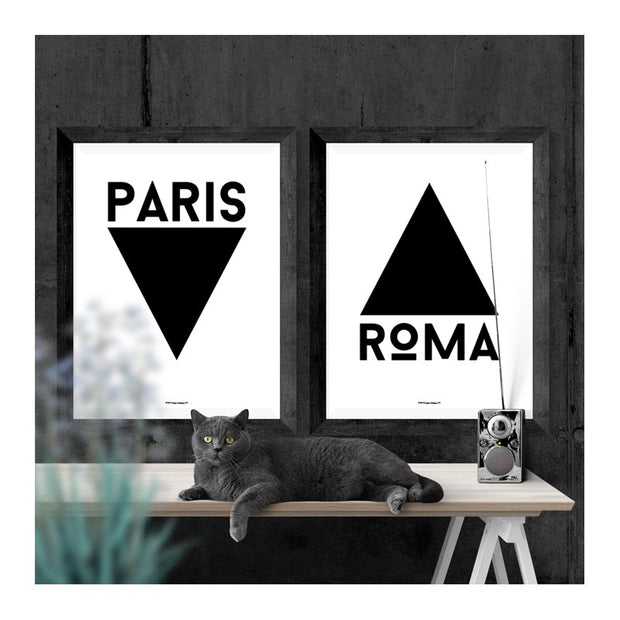 Paris Triangle Poster