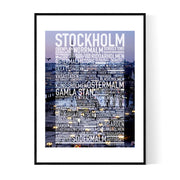 Stockholm Photo Text Poster