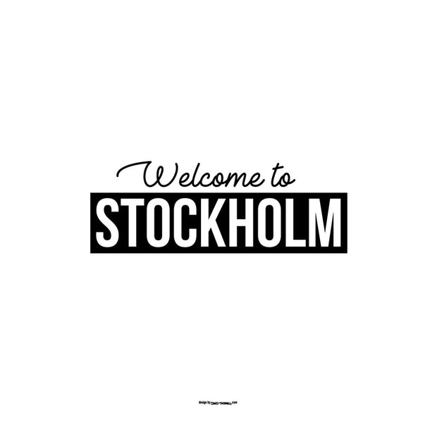Stockholm Welcome Poster