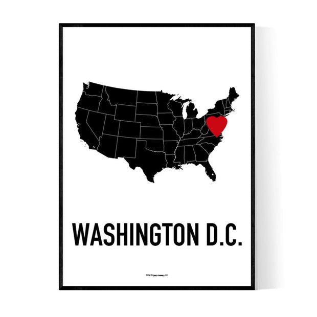 Washington D.C. Heart Poster