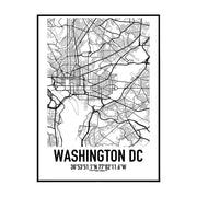 Washington DC Karten Poster