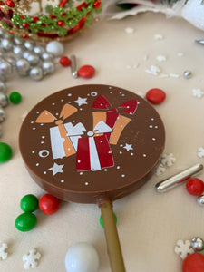 Festive Chocolate Lollipops