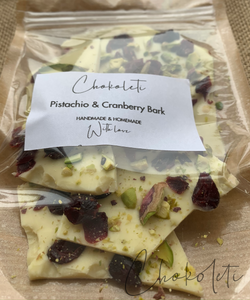Pistachio & Cranberry Chocolate Bark