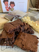Load image into Gallery viewer, Make Your Own Gourmet Triple Chocolate Brownies Kit