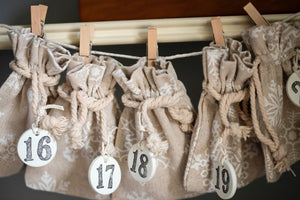 Cream Linen Advent Calendar