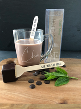 Load image into Gallery viewer, Dark Mint Hot Chocolate Stirrer