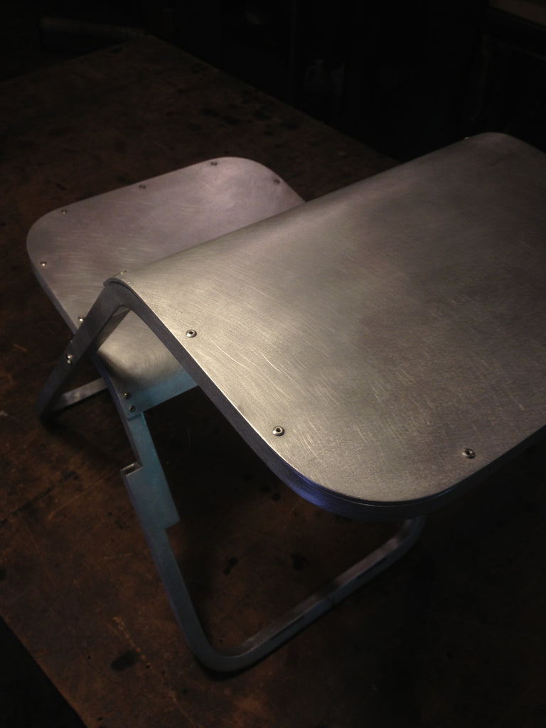 Custom metal furniture, Folding Aluminum Chair