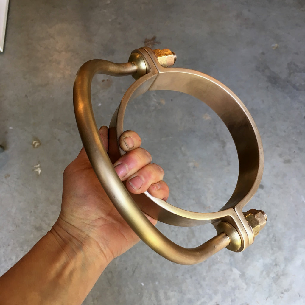 Custom Marine Hardware, bronze mast bail