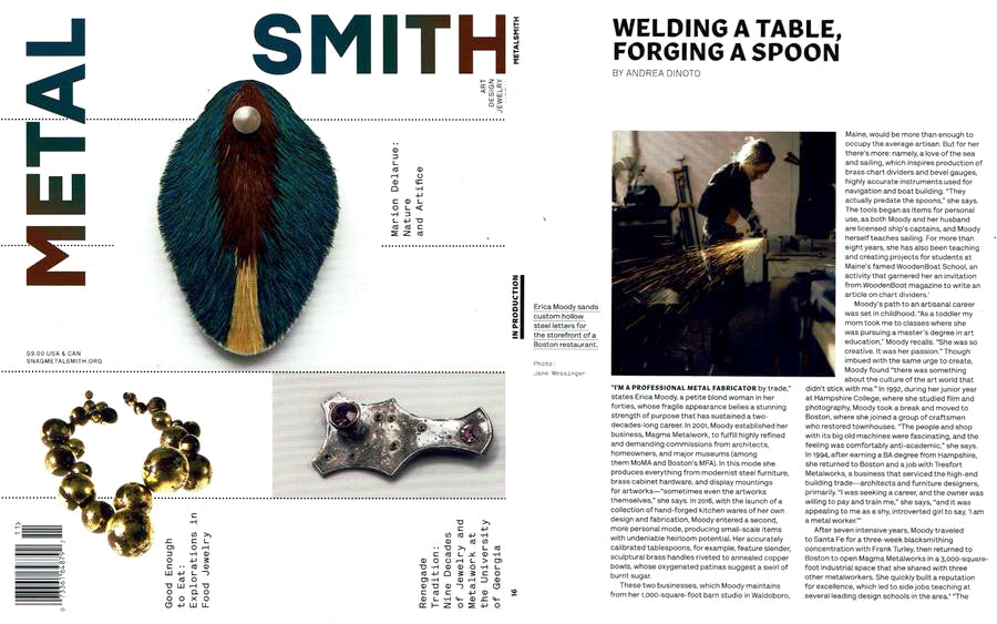 Metalsmith Magazine Woman Welder Career