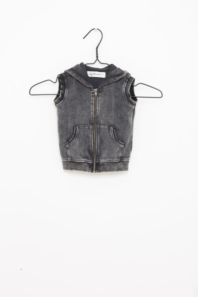 Egon Jacket Sleeveless Dark Grey