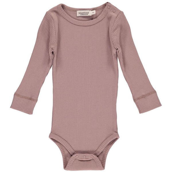 Body Long Sleeve Rose Nut MarMar Copenhagen Babykläder