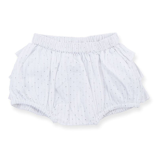 Bloomers silver Dot White