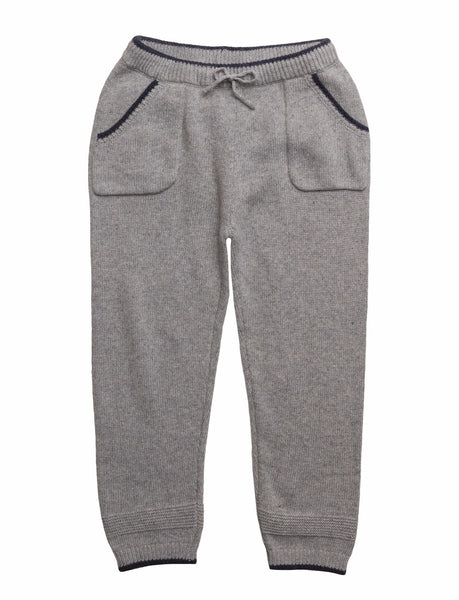 Stickade Byxor Trousers Long Grey Melange