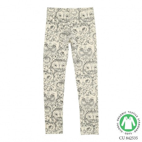Paula Junior Legging Cream AOP Owl