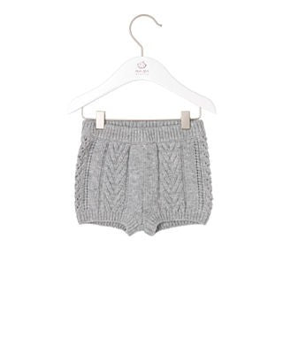 Stickade Shorts Grey Melange