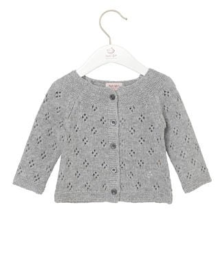 Kofta Cardigan Long Sleeve Grey Melange
