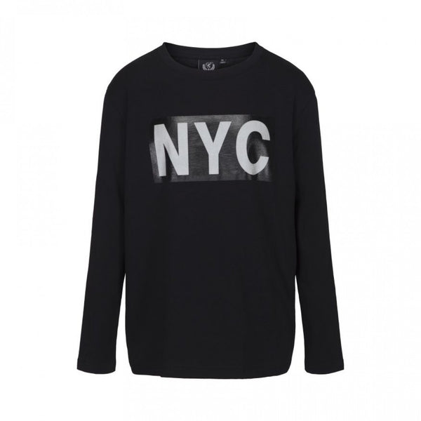 T-shirt long sleeve NYC Black Petit by Sofie Schnoor Barnkläder