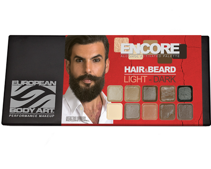 Encore Hair & Beard Light to Dark Palette