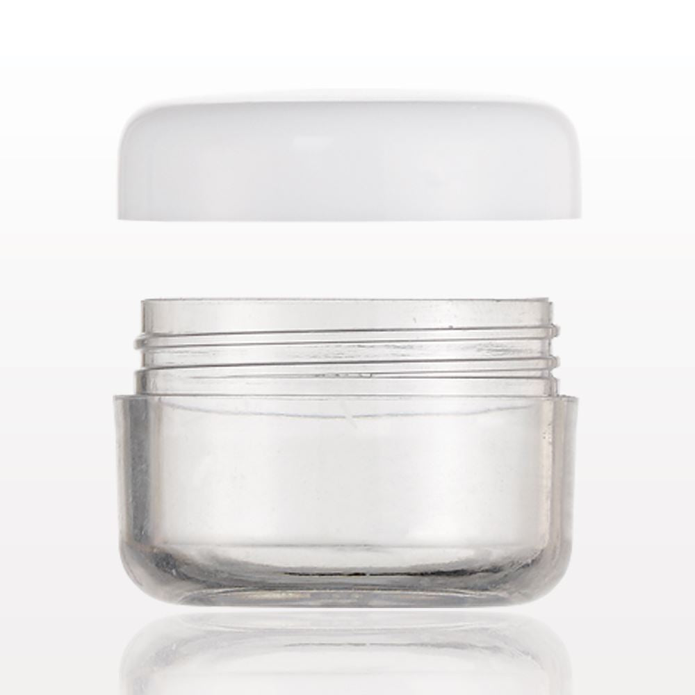 Jar - Clear w/ White Lid 5ml