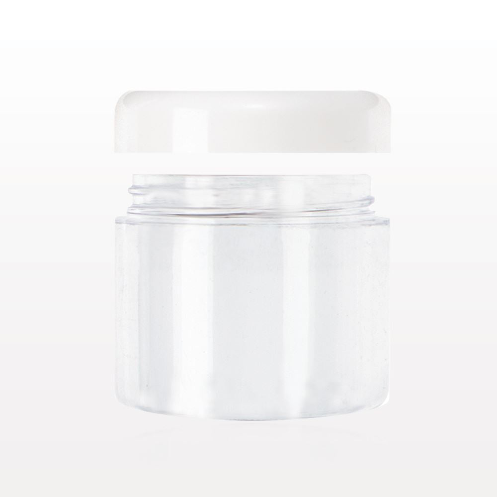 Jar - Clear w/ White Lid 20ml