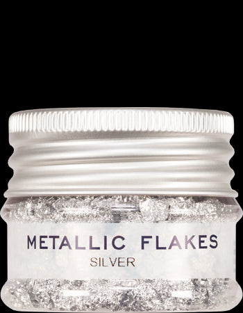 metallic flakes silver