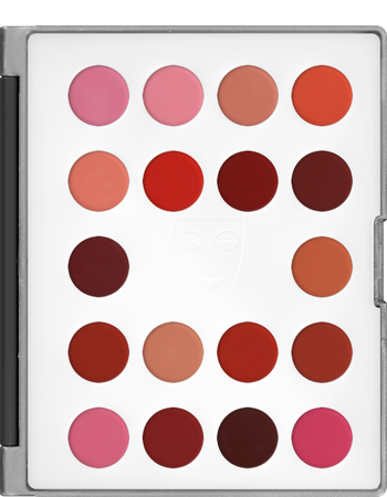 Kryolan Lip Rouge Mini-Palette 18-Color Art. 9026 LCP