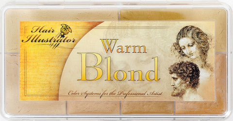 Hair Illustrator Warm Blonde Hair Palette