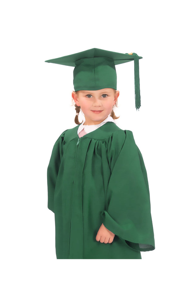 Matte Nursery Graduation Gown and Cap