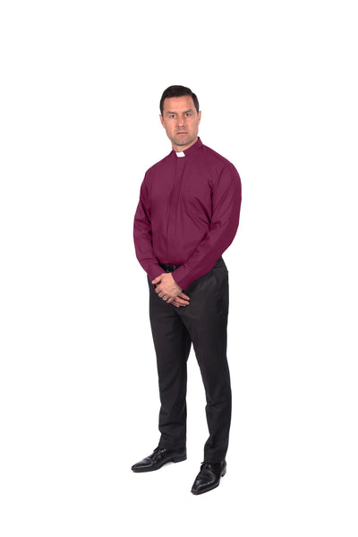 Men's Long Sleeved Clergy Shirt